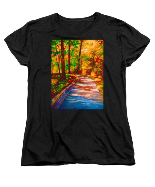 Women's T-Shirt (Standard Cut) featuring the painting A Morning Walk by Emery Franklin