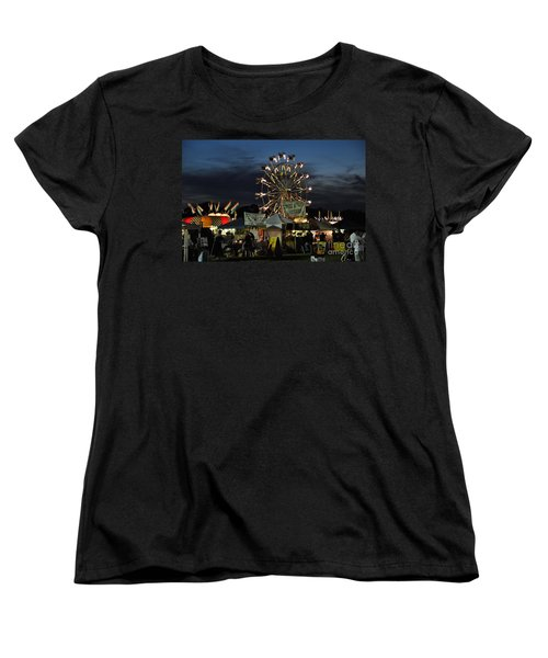 Women's T-Shirt (Standard Cut) featuring the photograph A Night At The Fair by John Black