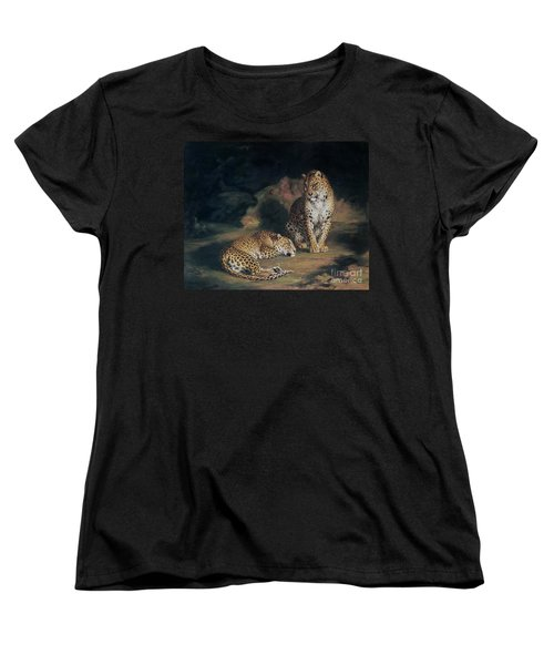 A Pair Of Leopards Women's T-Shirt (Standard Cut) by William Huggins