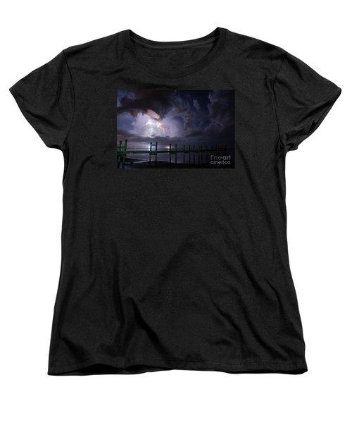 A Pier With A View Women's T-Shirt (Standard Cut) by Quinn Sedam