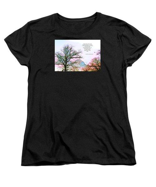 Women's T-Shirt (Standard Cut) featuring the photograph A Poem And A Tree I by Carolina Liechtenstein