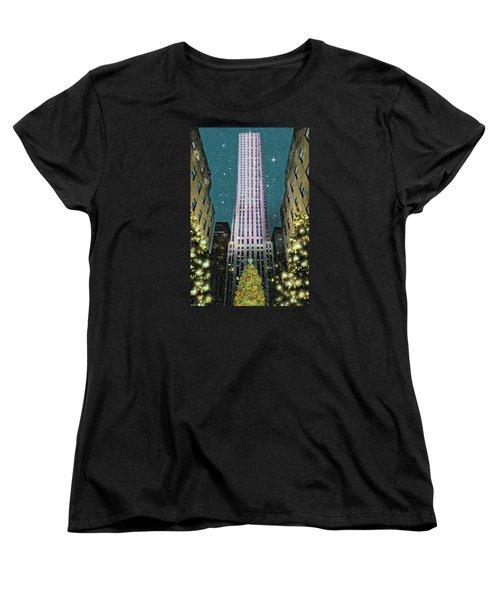 A Rocking Christmas Women's T-Shirt (Standard Cut) by Diana Angstadt