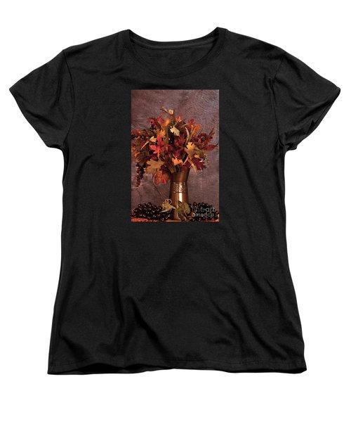 A Still Life For Autumn Women's T-Shirt (Standard Cut) by Sherry Hallemeier