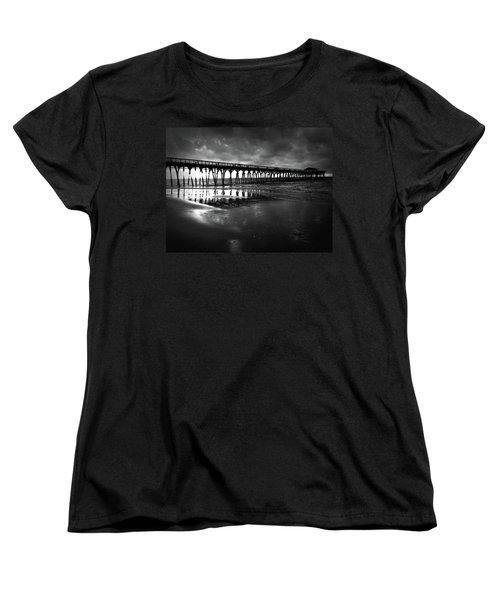 A Storm At Sunrise Women's T-Shirt (Standard Cut) by Kelly Hazel