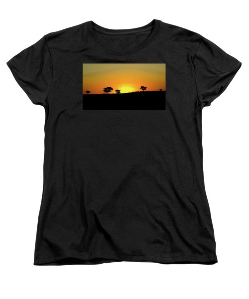 A Sunset In Namibia Women's T-Shirt (Standard Cut) by Ernie Echols