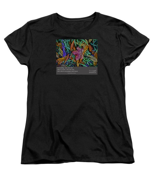 A Time To Every Purpose Under Heaven Women's T-Shirt (Standard Cut) by Jim Fitzpatrick