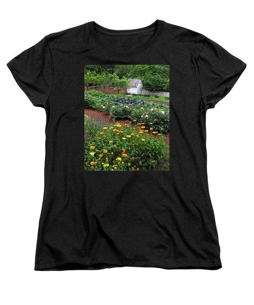 A Williamsburg Garden Women's T-Shirt (Standard Cut) by Dave Mills