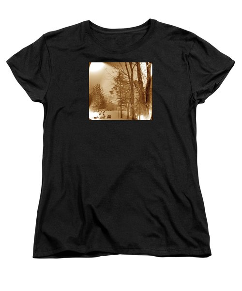 A Winter Scene Women's T-Shirt (Standard Cut) by Skyler Tipton