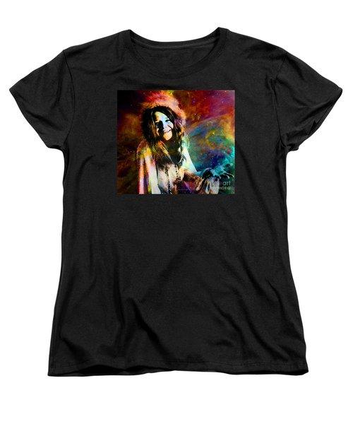 A Woman Of 1970 Rock And Roll Women's T-Shirt (Standard Cut)