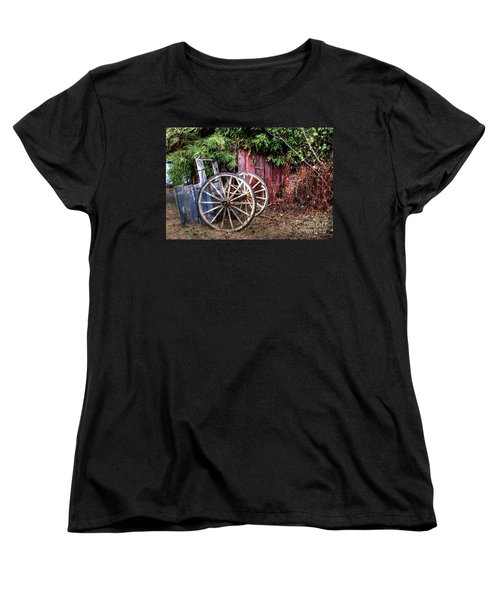 Women's T-Shirt (Standard Cut) featuring the photograph Abandoned Cart by Jim and Emily Bush