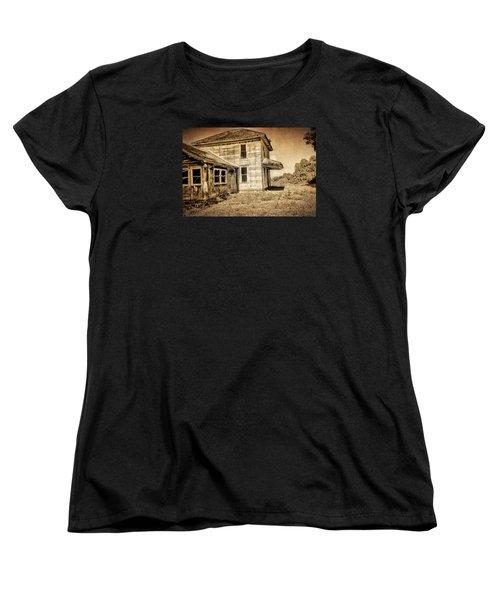 Abandoned House Women's T-Shirt (Standard Cut) by Bonnie Bruno