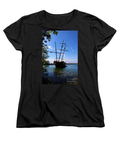 Abandoned Ship Women's T-Shirt (Standard Cut) by Al Bourassa