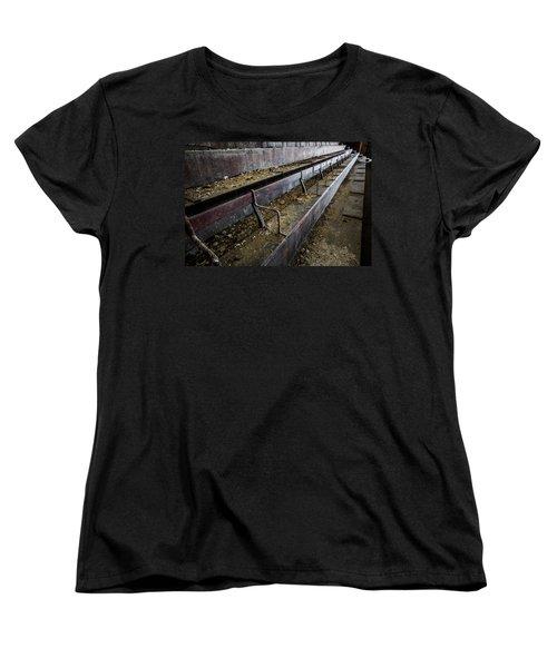 Abandoned Theatre Steps - Architectual Abstract Women's T-Shirt (Standard Cut) by Dirk Ercken