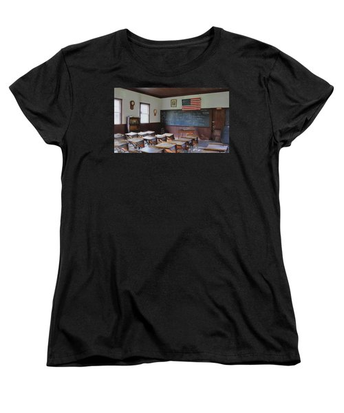 Women's T-Shirt (Standard Cut) featuring the digital art Abc's Of Learning by Sharon Batdorf