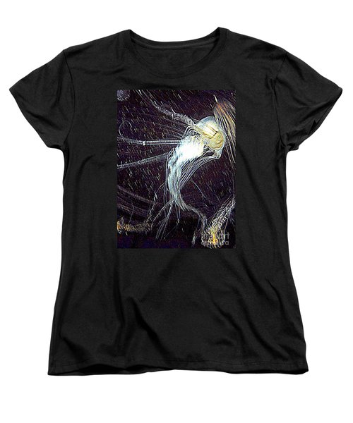 Women's T-Shirt (Standard Cut) featuring the photograph Aberration Of Jelly Fish In Rhapsody Series 2 by Antonia Citrino