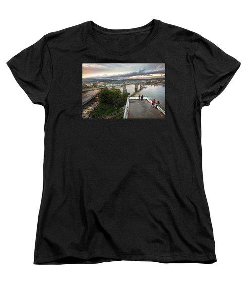 Above The Bluff, Musuem View Women's T-Shirt (Standard Cut) by Steven Llorca