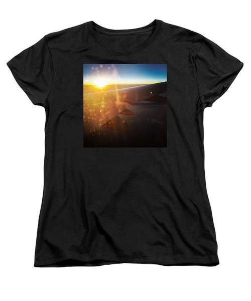 Above The Clouds 03 Warm Sunlight Women's T-Shirt (Standard Cut) by Matthias Hauser