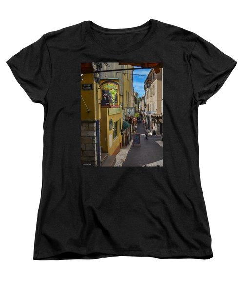 Women's T-Shirt (Standard Cut) featuring the photograph Absinthe In Antibes by Allen Sheffield