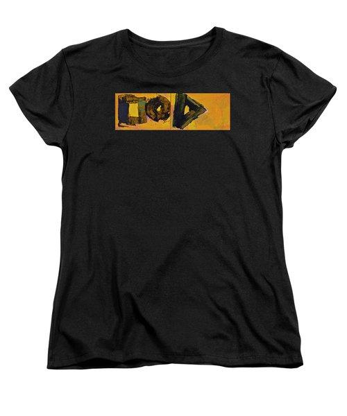 Abstract 2071-diptych Women's T-Shirt (Standard Cut) by Cliff Spohn