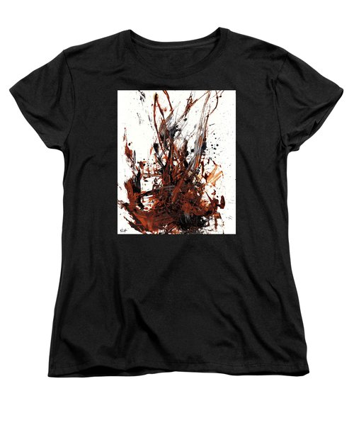 Abstract Expressionism Painting 50.072110 Women's T-Shirt (Standard Cut) by Kris Haas