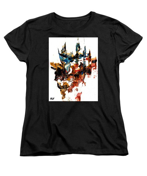 Abstract Expressionism Painting Series 750.102910 Women's T-Shirt (Standard Cut) by Kris Haas