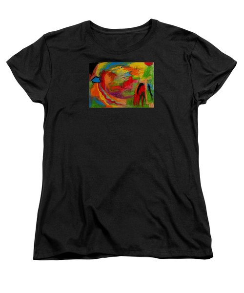Women's T-Shirt (Standard Cut) featuring the drawing Abstract No. 3 Inner Landscape by Maria  Disley