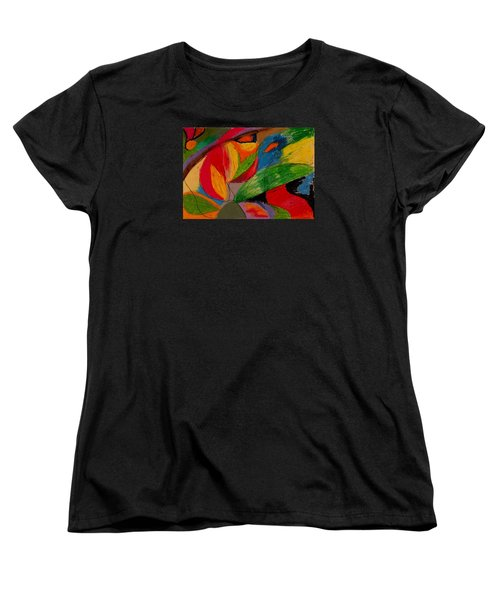 Women's T-Shirt (Standard Cut) featuring the drawing Abstract No. 5 Springtime by Maria  Disley