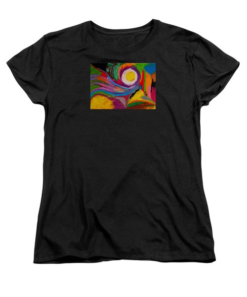 Women's T-Shirt (Standard Cut) featuring the drawing Abstract No.6 Innerlandscape by Maria  Disley