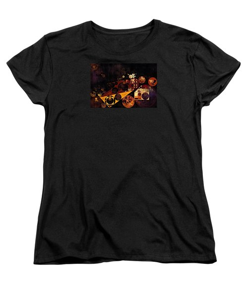 Women's T-Shirt (Standard Cut) featuring the digital art Abstract Painting - Fire Bush by Vitaliy Gladkiy