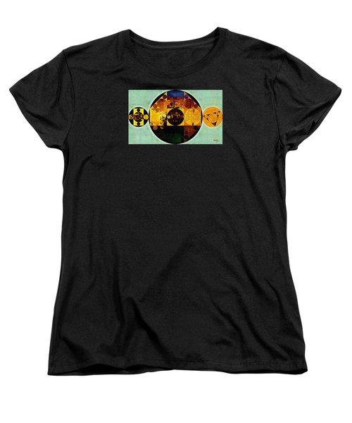 Abstract Painting - Gamboge Women's T-Shirt (Standard Cut) by Vitaliy Gladkiy