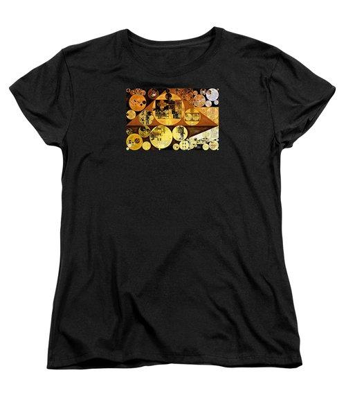 Women's T-Shirt (Standard Cut) featuring the digital art Abstract Painting - Mai Tai by Vitaliy Gladkiy