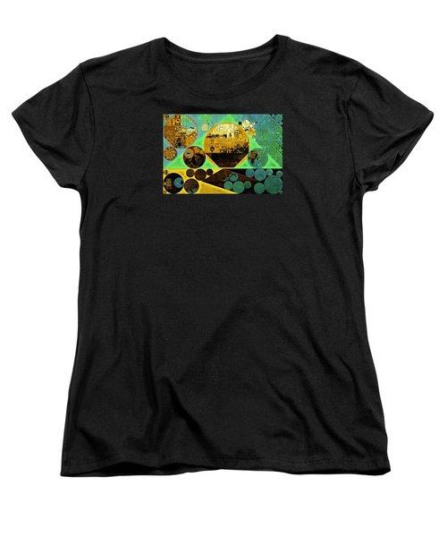 Women's T-Shirt (Standard Cut) featuring the digital art Abstract Painting - Ocean Green by Vitaliy Gladkiy
