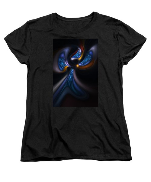 Abstract Stained Glass Angel Women's T-Shirt (Standard Cut) by David Lane