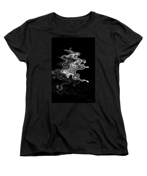 Abstract Swirl Monochrome Women's T-Shirt (Standard Cut) by David Gordon