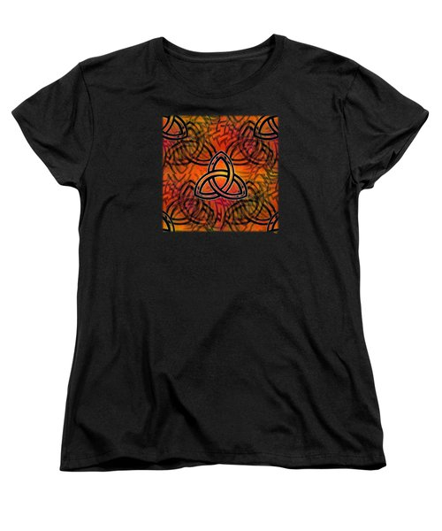 Women's T-Shirt (Standard Cut) featuring the digital art Abstract - Trinity by Glenn McCarthy Art and Photography