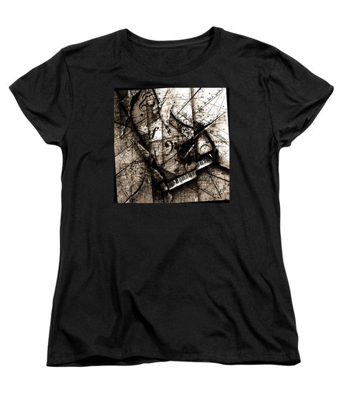 Abstracta 27 The Grand Illusion  Women's T-Shirt (Standard Cut) by Gary Bodnar