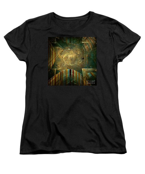Women's T-Shirt (Standard Cut) featuring the painting Abstractus by Alexa Szlavics