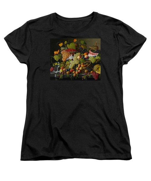 Abundant Fruit Women's T-Shirt (Standard Cut) by Severin Roesen