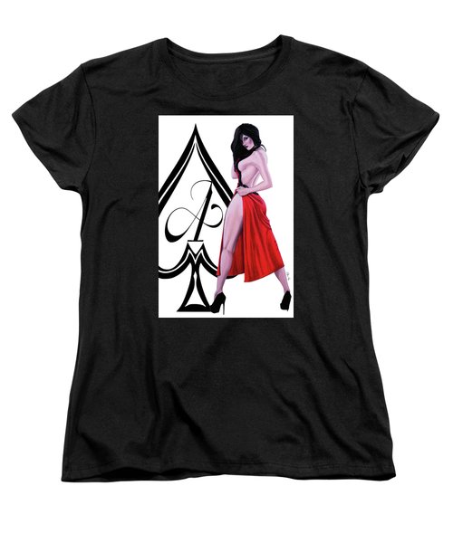 Ace Of Spades 2 Women's T-Shirt (Standard Cut) by Joseph Ogle