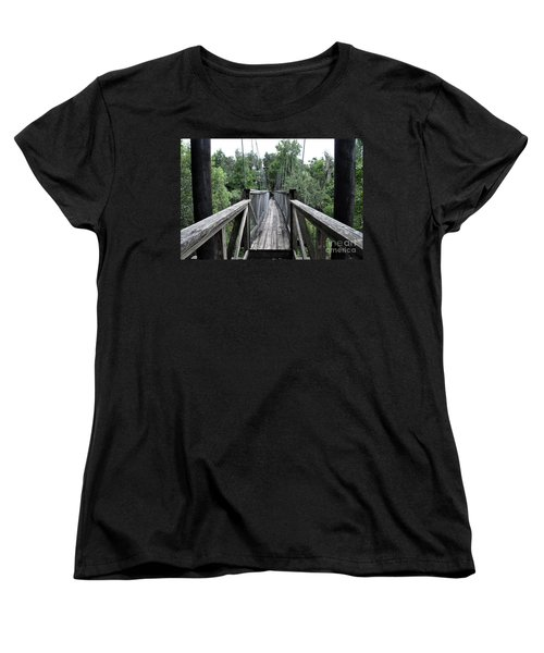 Women's T-Shirt (Standard Cut) featuring the photograph Across The Great Divide by John Black