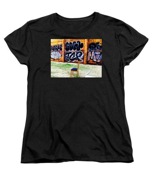 Admiring Barcelona Graffiti Wall Women's T-Shirt (Standard Cut) by Funkpix Photo Hunter