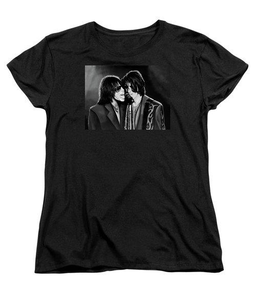 Aerosmith Toxic Twins Mixed Media Women's T-Shirt (Standard Cut) by Paul Meijering