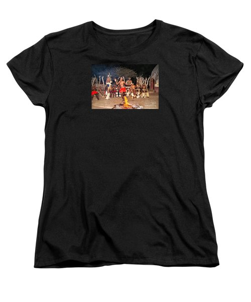 Women's T-Shirt (Standard Cut) featuring the photograph African Fire Dance by Rick Bragan