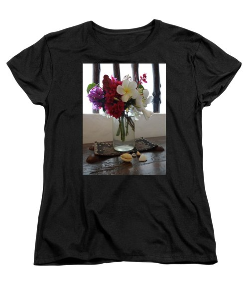 African Flowers And Shells Women's T-Shirt (Standard Fit)