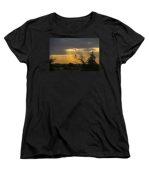 Women's T-Shirt (Standard Cut) featuring the tapestry - textile African Sunset 2 by Kathy Adams Clark