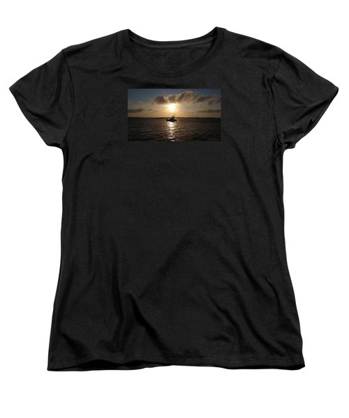 Women's T-Shirt (Standard Cut) featuring the photograph After A Long Day Of Fishing by Robert Banach