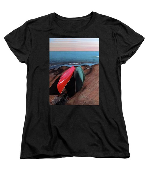 Women's T-Shirt (Standard Cut) featuring the painting After The Crossing by Kenneth M Kirsch
