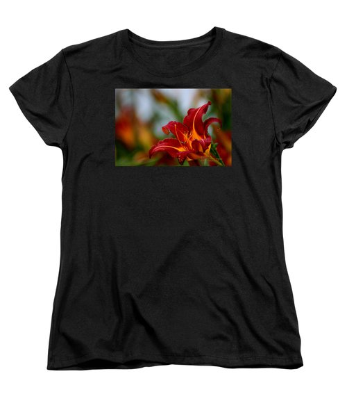Women's T-Shirt (Standard Cut) featuring the photograph After The Rain Came The Flowers  by Paul SEQUENCE Ferguson             sequence dot net