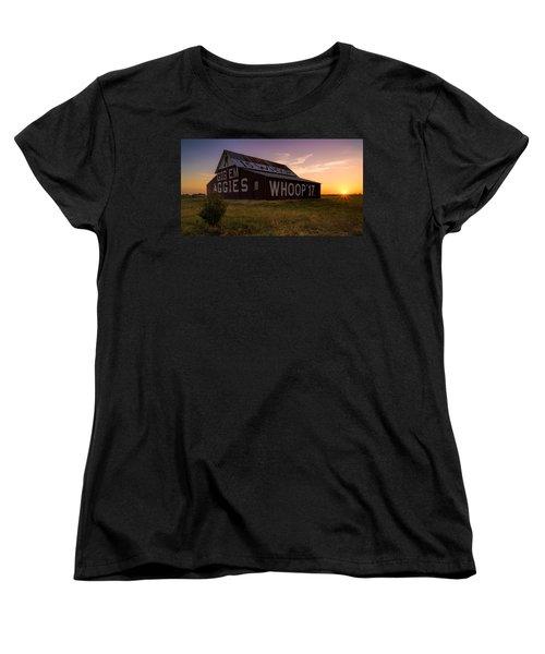 Aggie Sunset Women's T-Shirt (Standard Cut) by Jonathan Davison