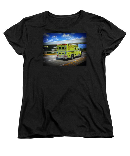 Airport Ambulance Women's T-Shirt (Standard Cut) by RKAB Works